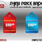 Downloads Legais - Crachá de Preço Brilhante PSD