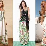Moda & Beleza - Vestidos longos estampados modelos verão 2014