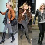 Moda & Beleza - Calça jeans com bota cano alto.