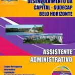 Concursos Públicos - Apostila SUDECAP PBH 2014 Assistente Administrativo (Belo Horizonte/MG)