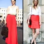 Moda & Beleza - Veja Fotos Saia Vermelha Longa