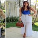 Moda & Beleza - Beleza Feminina Com Saia Branca Longa