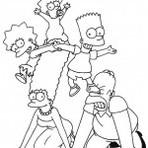 Pintura - Desenho dos Simpsons para colorir.