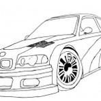 Pintura - Desenho de carros para colorir.