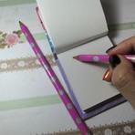 Diversos - Lápis decorados com fitas