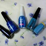 Diversos - Cinco tons de esmaltes azuis que adorei