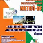 Apostilas Completa Companhia do Metropolitano do Distrito Federal (METRÔ-DF)-2014  (CD GRÁTIS)