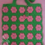 Bolsa Rosa-Verde Floral