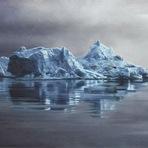 Pintura - Realistas pinturas a dedo de icebergs por Zaria Forman