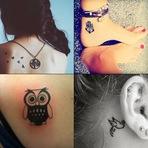 Pintura - 20 Tatuagens delicadas para você se inspirar