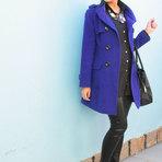 Moda & Beleza - Casacos azul na moda inverno 2014 modelos