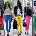 Moda & Beleza - Como usar calças coloridas dicas