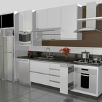 Casa Moderna: Cozinha Planejada Para Apartamento