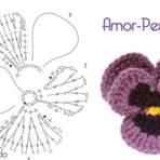 Flor Amor-Perfeito em Crochê