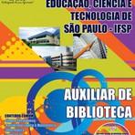 APOSTILA IFSP 2014 AUXILIAR DE BIBLIOTECA