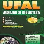 Apostila UFAL Auxiliar de Biblioteca Especifica Impressa 176 paginas