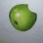 Pintura - Pintando maçãs verdes. Aulas grátis passo a passo.