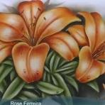 Pintura - Pintura de flores em tecido. Aulas grátis.