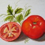 Pintura - Como pintar tomates em tecidos. Aulas grátis passo a passo.