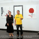 """Mulher - Charles Netto e a Artista Plástica """"Maria Lúcia Sandri"""" com sua Exposição das Obras de Arte com o Tema """"Violência contra"""