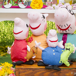 Festa de aniversário com o tema Peppa Pig