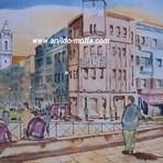 Pintura - Aquarela de Braga aulas grátis passo a passo.
