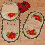 Tapetes croche para banheiro modelos modernos