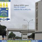 Pintura - Edital concurso UFPI 2014, São 85 vagas técnico-administrativos