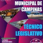 Concursos Públicos - Apostila (ATUALIZADA) Câmara Municipal de Campinas / SP TÉCNICO LEGISLATIVO - GRÁTIS CD