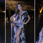 Sabrina Sato com Modelos de Vestido de Fenda