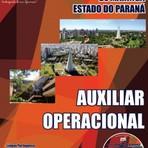 Concursos Públicos - Apostila  concurso  Prefeitura do Município de Maringá / PR,  cargo  Auxiliar Operacional.
