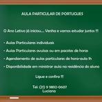 Educação - AULA PARTICULAR DE PORTUGUÊS