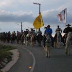 Festa para chegada dos cavalheiros da Cavalgada Rota da Fé será realizada amanhã