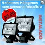 Segurança -  Eletricista Instalador - Refletor com sensor e fotocélula R$ 90,00 Instalado