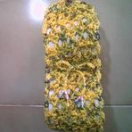 Hobbies - Porta papel higiênico firenze em crochê de sacolas plásticas