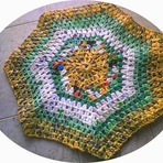 Hobbies - Tapete Barroco em Crochê 100% Feito Com Sacolas Plásticas