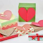 Hobbies - Dia dos Namorados - Faça uma Caixinha que é um Cartão em Forma de Coração
