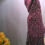 Hobbies - Cachecol de Croche Xistrado - Aprendendo Crochê - Passo a Passo