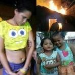 Violência - Mãe Abandona Filhos para ir a festa, casa pega fogo e duas morrem carbonizaba