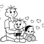 Pintura - Confira dicas para dia dos pais turma da Mônica