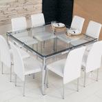 Outros - Mesa com tampo em vidro modelos