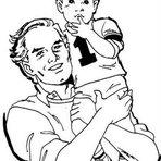Pintura - Veja desenhos do Dia dos Pais para colorir