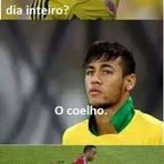 Copa do Mundo - Humor: Neymar, qual é o animal dentuço e que come o dia inteiro? O coelho... Que te chuta com o joelho