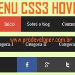 Blogosfera - Menu Completo com Redes Sociais e Efeito CSS3 Hover