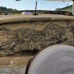 Arte & Cultura - Desenhos feitos em vidros de carros sujos