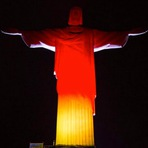 Copa do Mundo - Cristo Redentor com as cores da bandeira da Alemanha na final da Copa do Mundo 2014