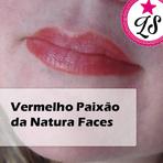 Mulher - Resenha: Vermelho Paixão da Natura Faces